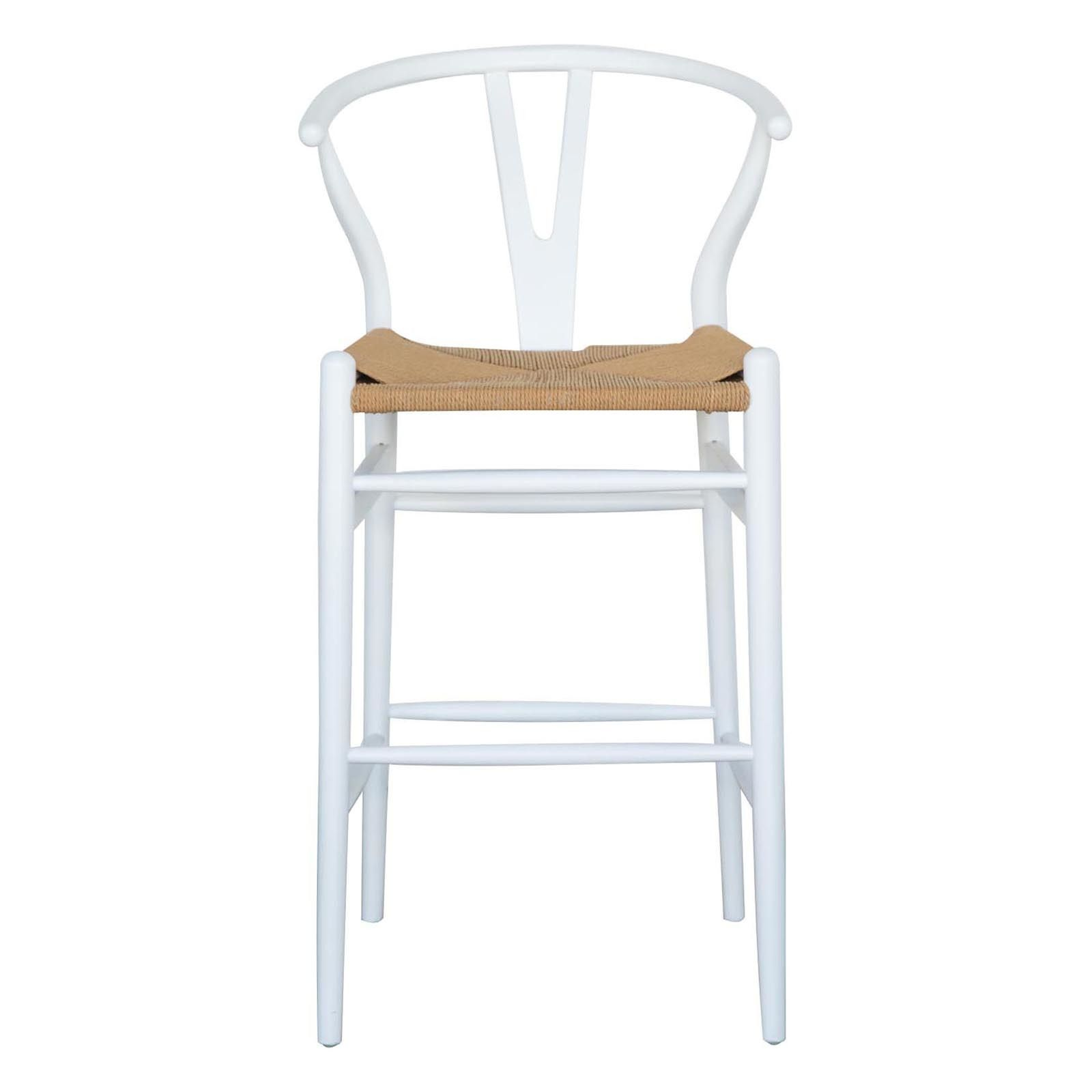 Replica Hans Wegner Wishbone Wood Bar Stool NaturalLP20 Abide Interiors    20W x 20D x 20H cm Seat height 20 cm
