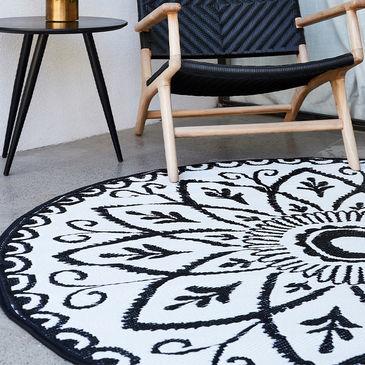 Benaras Round Indoor Outdoor Rug By Fab, Round Outdoor Rugs Australia